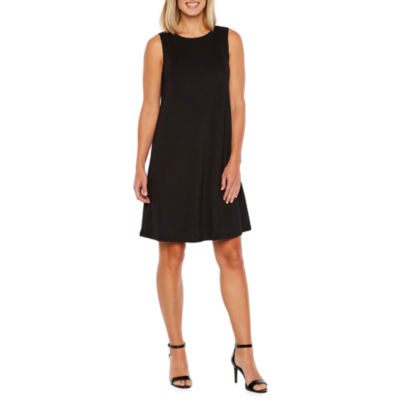 Black Label by Evan-Picone Sleeveless Swing Dresses