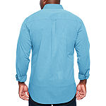 IZOD Tall Slim Premium Essential Woven Mens Long Sleeve Button-Front Shirt Slim