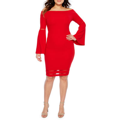 Bold Elements Long Sleeve Fit & Flare Dress