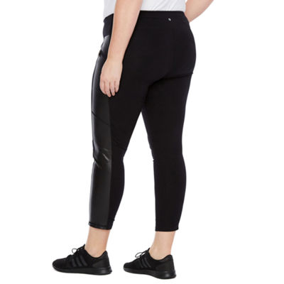 Xersion Faux Leather Street Tight - Plus