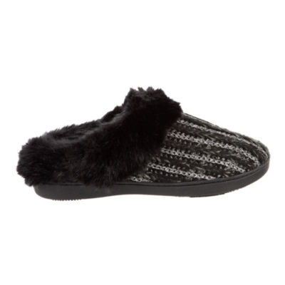 Isotoner Sweater Knit Clog Slippers with 360 Memory Foam