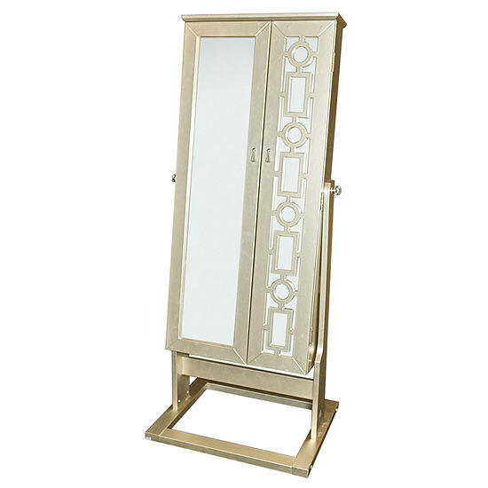 Jennifer Shimmer Cheval Mirror Jewelry Armoire