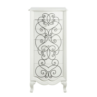 Clara White Jewelry Armoire