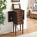 Grace Walnut Jewelry Armoire