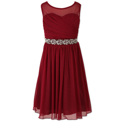 Speechless Embellished Sleeveless Skater Dress - Big Kid Girls