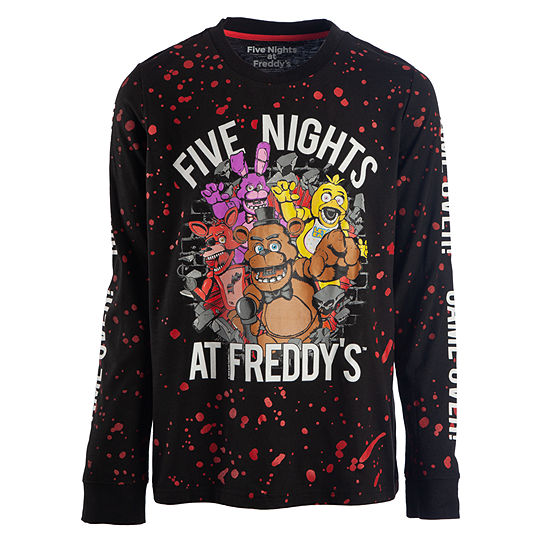 baa73797 Boys Crew Neck Long Sleeve Five Nights at Freddys Graphic T-Shirt Preschool  / Big Kid - JCPenney
