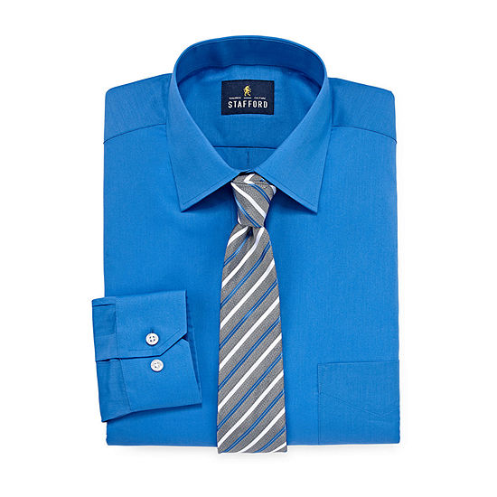 Stafford Shirt And Tie Set Big And Tall