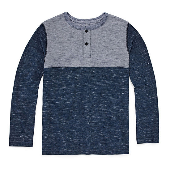Arizona Boys Long Sleeve Henley Shirt Preschool / Big Kid
