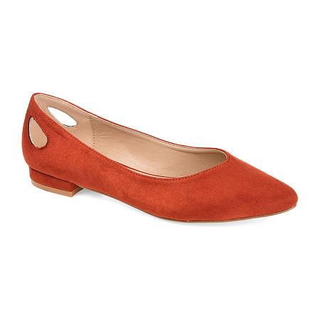 Journee Collection Womens Devon Round Toe Ballet Flats, 6 Medium, Red