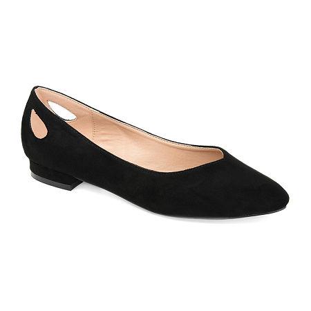 Retro Vintage Flats and Low Heel Shoes Journee Collection Womens Devon Round Toe Ballet Flats 10 Medium Black $45.49 AT vintagedancer.com