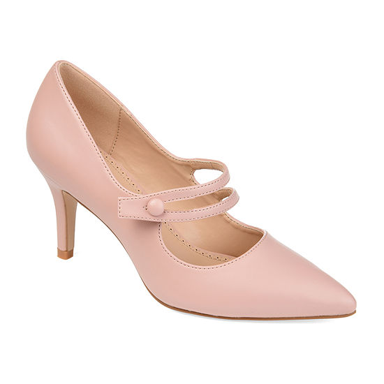 Journee Collection Womens Sidney Pumps Pointed Toe Block Heel