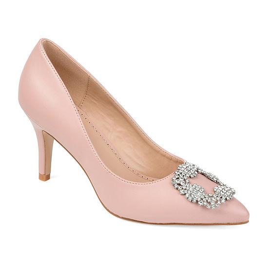 Journee Collection Womens Izzie Pumps Pointed Toe Block Heel