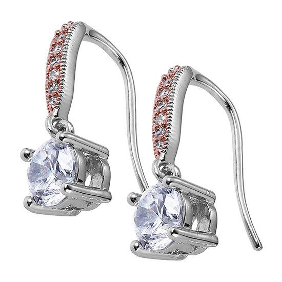 Sparkle Allure Cubic Zirconia Bronze Drop Earrings