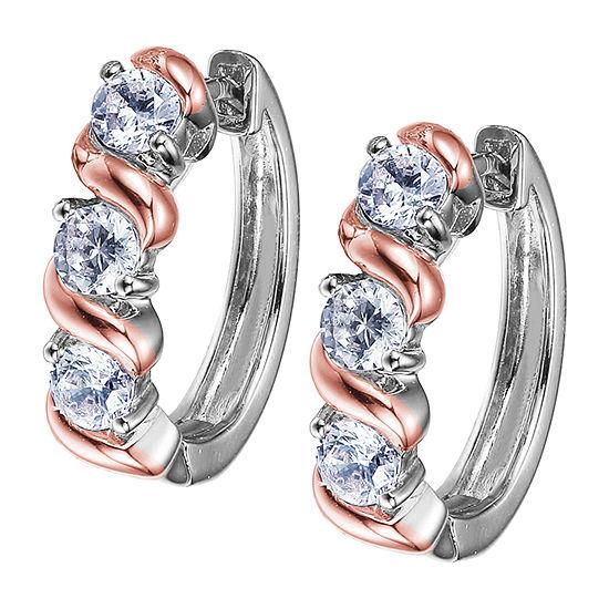 Sparkle Allure Sparkle Allure Cubic Zirconia Bronze Hoop Earrings