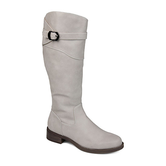 Journee Collection Womens Brooklyn Riding Boots Stacked Heel