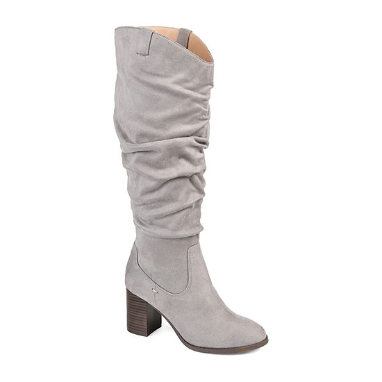 Journee Collection Womens Aneil Over the Knee Boots Stacked Heel