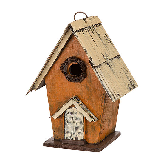 Glitzhome Distressed Wooden Bird Houses