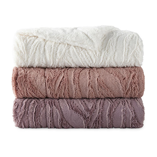 North Pole Trading Co Bergen Faux Fur Throw
