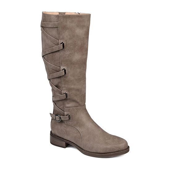 Journee Collection Womens Carly Riding Boots Stacked Heel