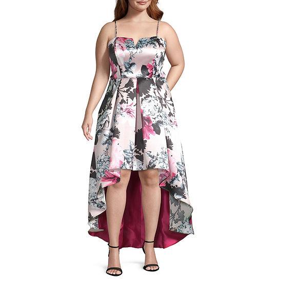 Trixxi-Juniors Plus Sleeveless Dress Set