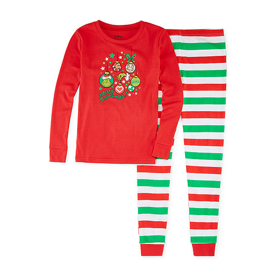 Dr. Seuss Grinch Family Girls 2 Piece Pajama Set - Preschool/Big Kid
