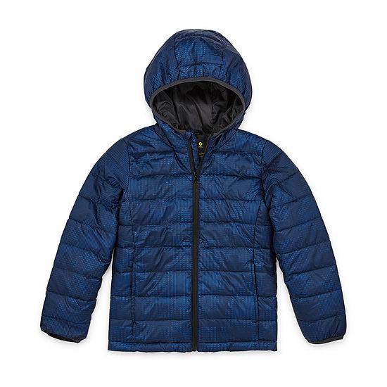 Xersion - Boys Lightweight Puffer Jacket Husky-Big Kid