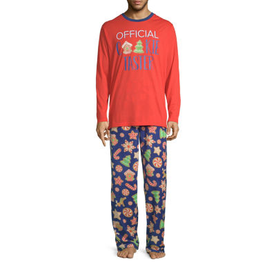 Secret Santa Cookie Family Mens 2-pc. Pant Pajama Set