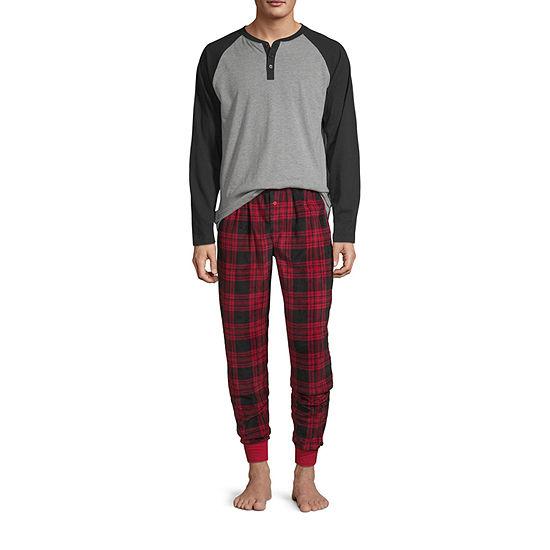 Holiday #Famjams Tired Buffalo Family Mens 2-pc. Pant Pajama Set