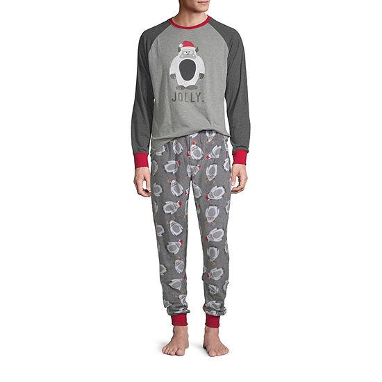 Holiday #Famjams Yeti Family Mens 2-pc. Pant Pajama Set