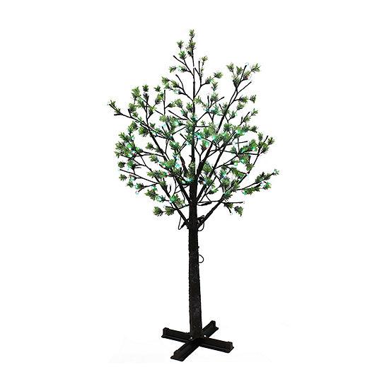 Puleo International 7 1/2 Foot Pre-Lit Christmas Tree