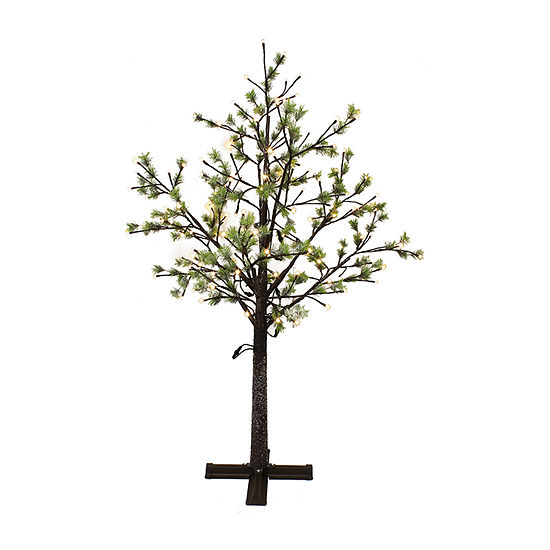 Puleo International 6 1/2 Foot Pre-Lit Christmas Tree