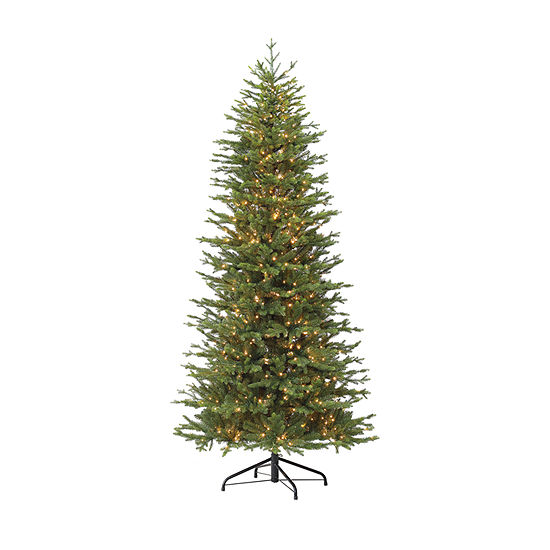 Puleo International 7 1/2 Foot Fir Pre-Lit Christmas Tree