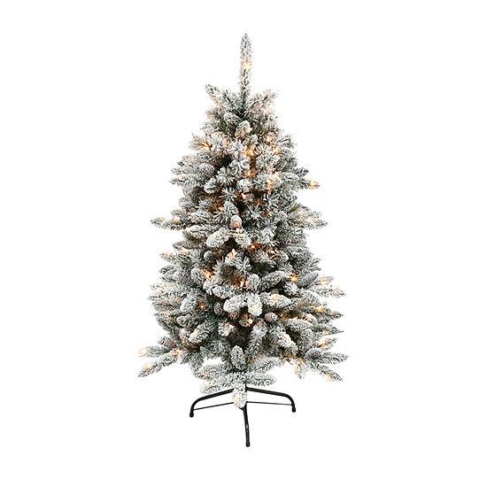 Puleo International 4 1/2 Foot Fir Pre-Lit Christmas Tree