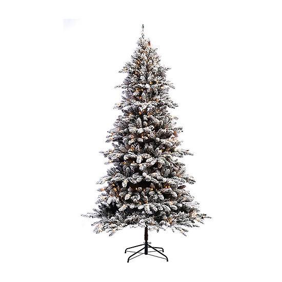 Puleo International 6 1/2 Foot Fir Pre-Lit Christmas Tree