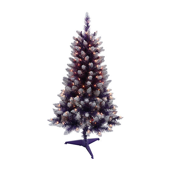 4 Foot Christmas Tree.Puleo International 4 Foot Pine Pre Lit Christmas Tree