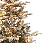 Puleo International 4 1/2 Foot Fir Pre-Lit Christmas Tree