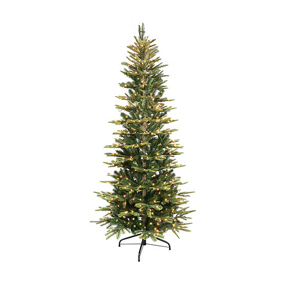 Jc Penney Christmas Trees: Puleo International 7 1/2 Foot Fir Pre-Lit Christmas Tree