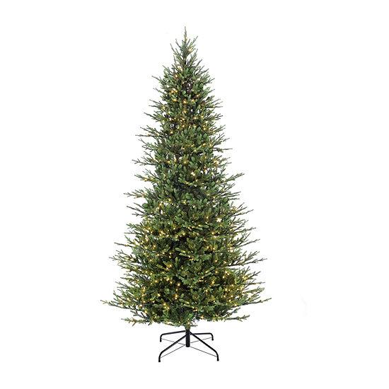 Puleo International 9 Foot Fir Pre-Lit Christmas Tree