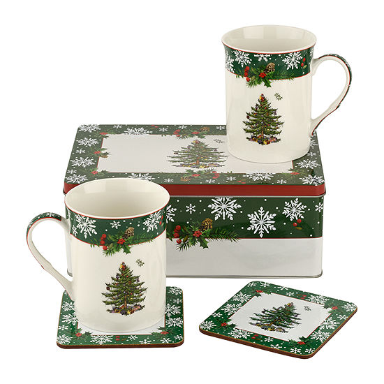 Spode Christmas Tree 5-pc. Cup and Saucer Set