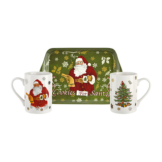 Spode Christmas Tree 3-pc. Cup and Saucer Set