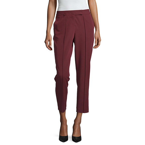 Worthington Womens Straight Fit Ankle Pant