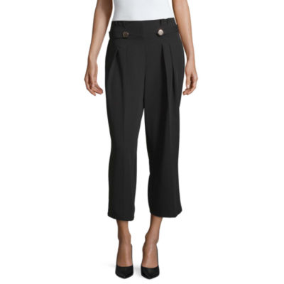 Worthington Womens Wide Leg Pleated Pant