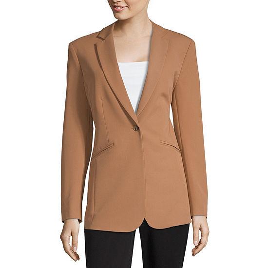 Worthington Womens 1 Button Jacket