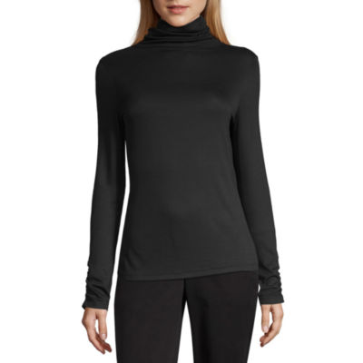 Worthington Womens Long Sleeve Turtleneck