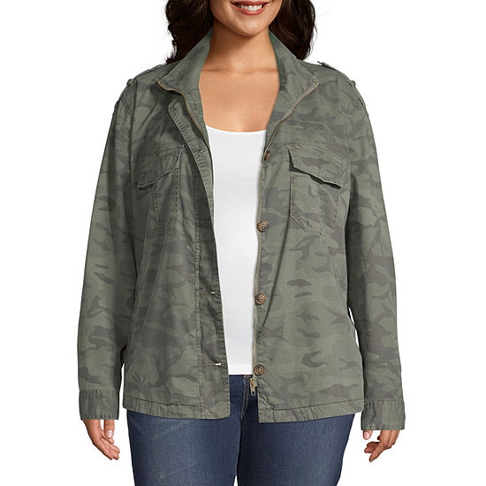 Unionbay Supplies By Unionbay Marinda Utility Camo Jacket Twill Lightweight Anorak Plus