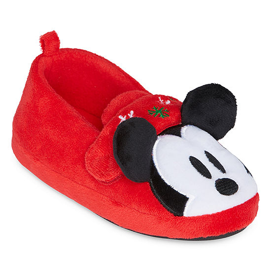 Disney Mickey Mouse Holiday Slippers Boys