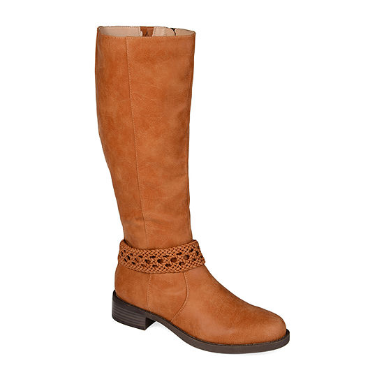 Journee Collection Womens Paisley Stacked Heel Riding Boots
