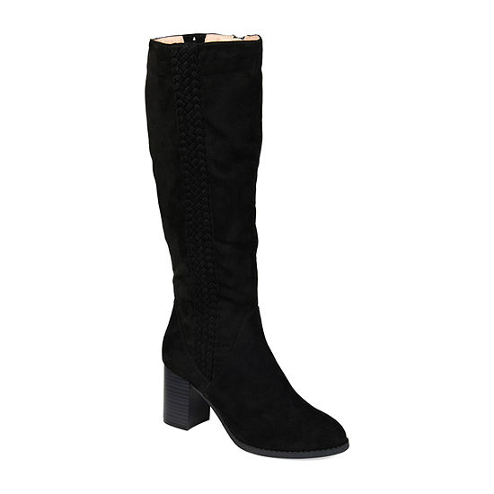 Journee Collection Womens Gentri Over the Knee Boots Stacked Heel