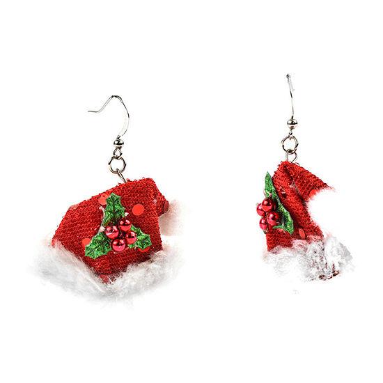 Mixit Santa Hat Drop Earrings