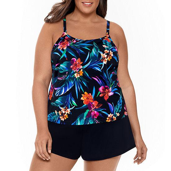 Trimshaper Slimming Control Swim Dress Plus